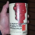 Nice Petit Mouton we tasted for the event in banquet room