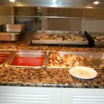 Freshly cooked food for guests