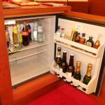 Mini bar. Restocked as required