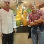 Chef and sculpted food