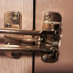 Misaligned door latch-lock.looks like it was installed as an after thought. It does not work. It