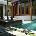 View of the private pool in the villa