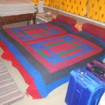 Tent room - two singles joined to make a large double bed