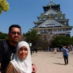 Us behind the osaka castle -spring 2014