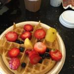Made great waffles with the available selection. Loved it!