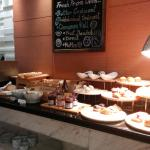 Great selection of morning pastries and bread