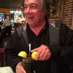 Jim squeezing the lemons at Ciao