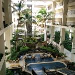 The interior of hotel; open and tranquil