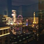 View from Vdara looking at Belagio fountains