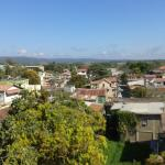 View of San Ignacio from the main hotel's rooftop patio