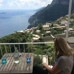 View from our bedroom at Mamma Rosa, Positano