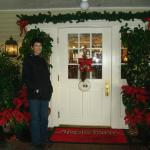 The Inn entrance is warm and inviting