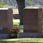 Tombstone of LBJ and Lady Byrd