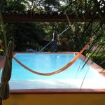 You can even lie in the hammock that was strung over the pool: