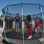 Best love playground facilities, the trampoline