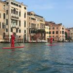 Paddle Boarding Santa's On Grand Canal