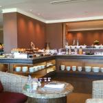 A view of the Club Lounge breakfast buffet.