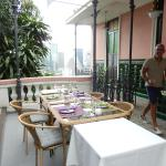 View with breakfast table