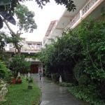 the garden of the hotel