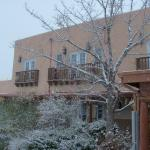 Snow in Santa Fe, at the Inn