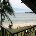 View from beachside chalet