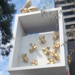 Bees Adorn The Side Of The Eureka Tower