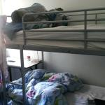 Bunk beds on entering