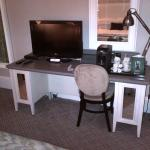 Work table with Sky TV and Bose Sound Link included