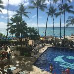 View of the pool and beach area (taken at Hula Grill)