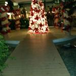 Hotel Foyer with Christmas tree
