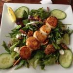 Blue Water Cafe - Seared scallop salad