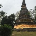 Ancient pagoda above the caves