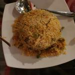 Beriani rice with vegetables