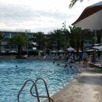 Cabana Bay pool first thing in the morning.