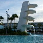 Waterslides, lazy river, and heated pools.