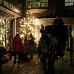Victorian street at Christmas