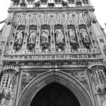 Frontage in black and white