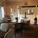 Small and antiquated executive lounge