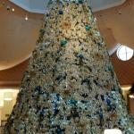 Poinsettia Tree in Lobby (Impressive but not real)