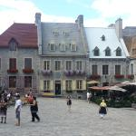 beautiful square in old city