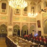 the opulent dining room