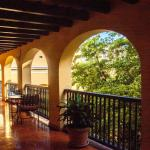 The outdoor corridor - tables and chairs were available to sit and enjoy the courtyard.
