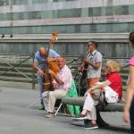 local musicians in the piazza
