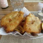 Flakey and delicious fish and chips!