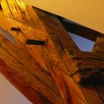 Ancient wooden beams and wooden nails hold up the hotel