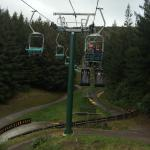 Chairlifts back up to the luge