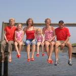 Family time at the resort's dock