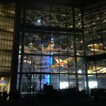 Boeing Freedom Center at night