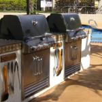 Gas BBQ & Pool area