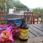 Outdoor dining; convenience store goodies